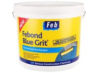 Febond Blue Grit large bucket plaster bonding agent