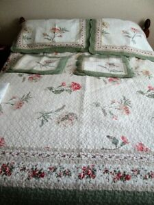 Double Comforter, shams,bedskirt,accent pillow cases