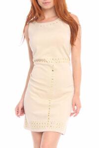 Gabby Skye Peony Dress in Nude. Ponte. Size 14