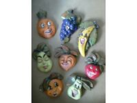 1950's SELECTION OF CHARACTER PLASTER FRUITS