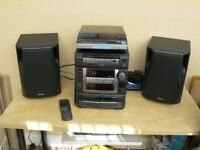 Aiwa hi fi system with added record player (one tape deck not working)