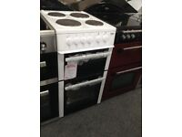 Beko 4 ring white electric cooker. 12 month Gtee. £210