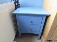 Blue Marks and Spencer Hastings bedside table