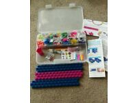 Bracelet making set, Colorful Characters Making Set, 2-prong spool loom