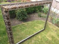 Large mirror with decorative frame