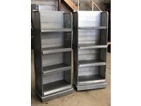 2x Shelving Display Units