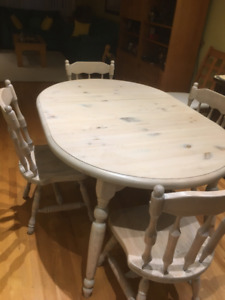Dining room or kitchen table and chairs