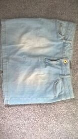 ZARA BASICS Blue Denim Skirt SIZE MEDIUM £3