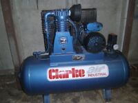 never used clarke AIR industrial compressor new