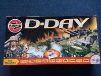 Airfix D-day 1:72 scale model figurines - Partially constructed