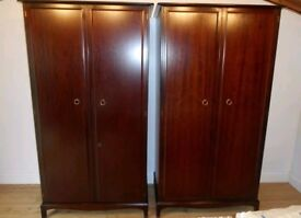 2x Stag Wardrobe and 2x bedside table