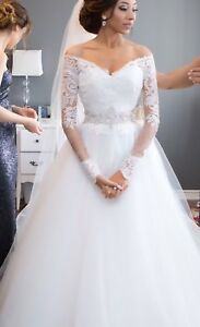 Custom Morilee Lace Sleeve Ball Gown