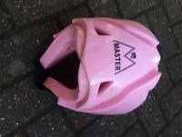 Girls/ladies pink Taekwondo helmet
