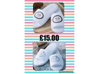 His & Hers personalised slippers