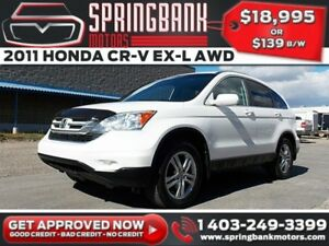 2011 Honda CR-V EX-L AWD w/Leather, Sunroof $129B/W INSTANT APPR