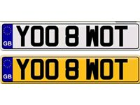 YOU ATE WHAT a private number plate for sale
