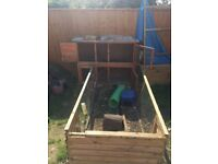 two storey large rabbit hutch & run (if required) for sale