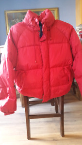 Mens duck down winter coat size large