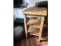 Ikea kitchen island trolley butchers block