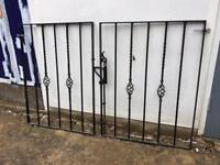 Black metal gates