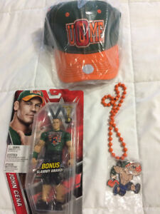 John Cena WWE Wrestling Necklace/Pedant,Figure & Hat Set