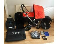 **BUGABOO CAMELEON 3**MAXI COSI CAR SEAT + BASE**TRAVEL BAG**CARRYCOT**EXCELLENT CONDITION