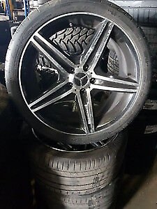 MERCEDES CLS 550 19 INCH WHEELS AND TIRES $650