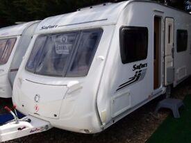SUPERB 2010 Swift Safari 550 Fixed Bed End Washroom Caravan