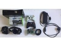 Xbox 360 console, games and headset