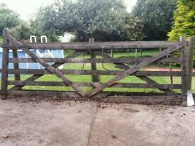 Wooden Gate 12ft x 4.5/5ft