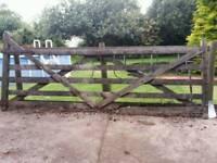 Wooden Gate 12ft x 4.5/5ft