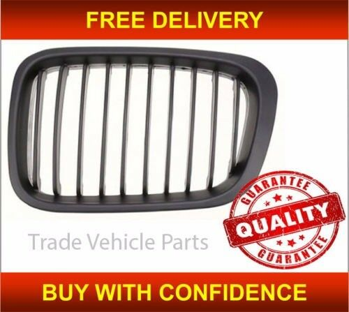 BMW 3 E46 4 DOOR 1998-2001 FRONT KIDNEY GRILLE BLACK PASSENGER SIDE NEW FREE DELIVERY