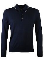 PS By Paul Smith Long Sleeve Polo Shirt Navy (new with tags)