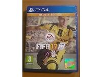 PS4 FIFA 17 - Great condition (deluxe edition but codes used)
