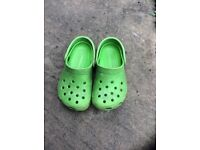 Child's genuine Crocs size 8-9 green