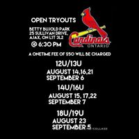Elite Baseball Tryouts 2018 Season