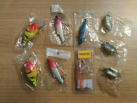 Crankbait Spoon Lure Frog Popper Predator Fishing Spinning Treble Hook Pike Trout Sea Bass Mackerel