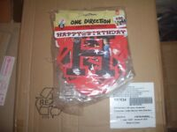 One Direction Happy Birthday Banner.Box of 204.Brand New Sealed.Official License