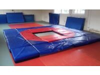 Martial arts/judo training crash mat area.