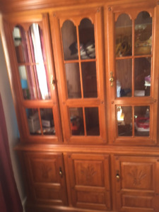 Dining table, 5 chairs and china cabinet