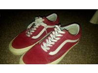 Red Vans Vintage Shoes