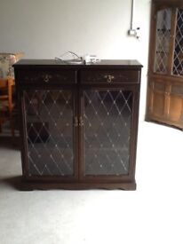 Oak style display cabinet