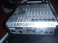 behringer 1000 watt powered mixer