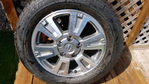 New Tundra tire and wheel package