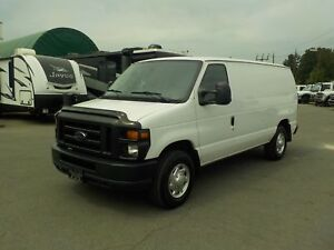 2010 Ford Econoline E-250 Cargo Van with Rear Shelving and Bulkh