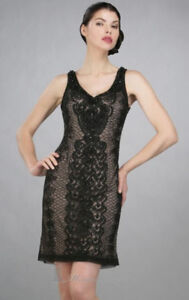 Sue Wong beaded black cocktail dress - brand new with tags!