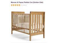 Mamas and Papas Pebble Cot and Sprung Mattress