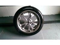 ALLOYS X 4 OF 20 INCH 114.3/PCD USED BUT IN GOOD CONDITION WITH GOODYEAR TYRES FITTED NICE WHEELS