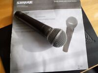 Microphone Shure SM58 good condition with box, cover and spare head filter