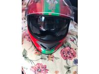 Motorbike helmet and boots